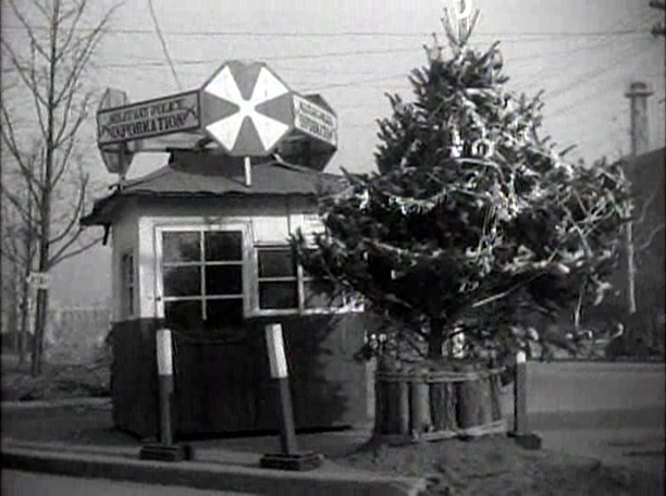 Christmas tree at guard house in Korea